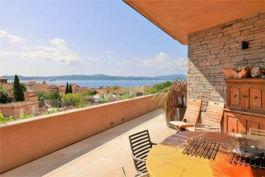 Appartement à vendre à Sainte-Maxime neuf vue mer & immense terrasse