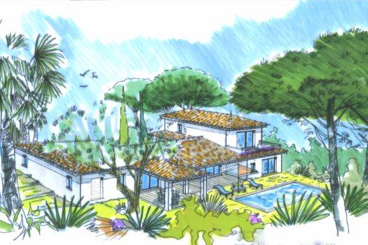 Superbe villa à vendre à Grimaud : neuve à pied des plages