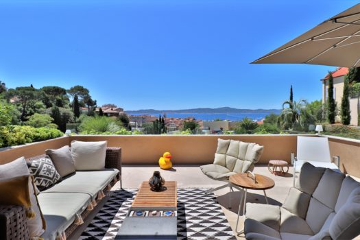 Panoramic sea view apartment for sale in Sainte-Maxime