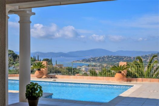 Sea view villa for sale close to the center of Sainte-Maxime